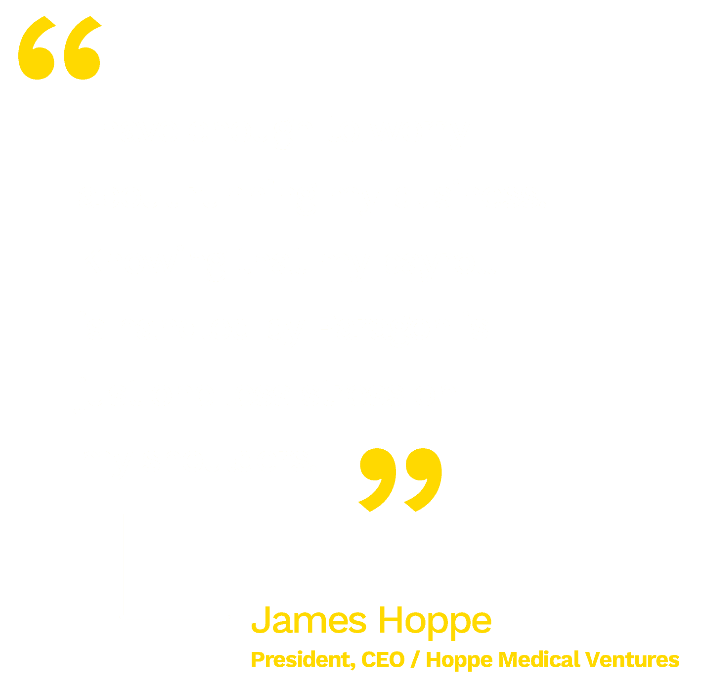 """""""I have enough to worry about running my business. Knowing that my payroll is handled by Paragon is just one less stress on my shoulders."""" - James Hoppe / CEO of Hoppe Medical Ventures"""